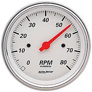 Auto Meter Arctic White Tachometer 3-3/8″ Electrical