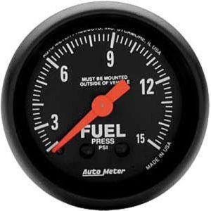 Auto Meter Z-Series Fuel Pressure Gauge 2-1/16″ Mechanical
