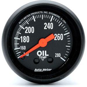 Auto Meter Z-Series Oil Temperature Gauge 2-1/16″ Mechanical