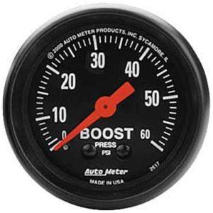 Auto Meter Z-Series Boost Gauge 2-1/16″ Mechanical