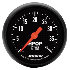 Auto Meter Z-Series Diesel HPOP Pressure Gauge Ford Powerstroke: 1994-2003 7.3L & 2003-07 6.0L