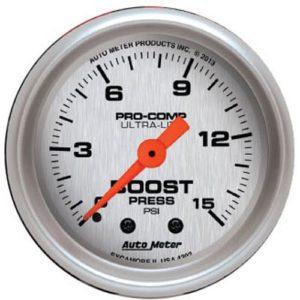 Auto Meter Ultra-Lite Boost Gauge 2-1/16″ Electrical