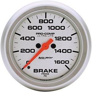 Auto Meter Ultra-Lite Brake Pressure Gauge 2-5/8″ electrical