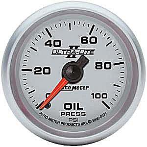 Auto Meter Ultra-Lite II Oil Pressure Gauge 2-1/16″ mechanical