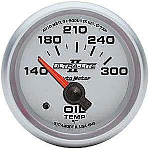 Auto Meter Ultra-Lite II Oil Temperature Gauge 2-1/16″ short sweep electrical