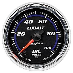 Auto Meter Cobalt Oil Pressure Gauge 2-1/16″, electrical full sweep
