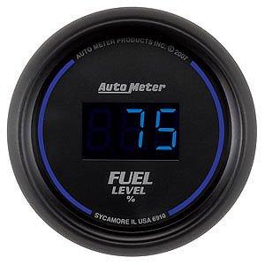 Auto Meter 2-1/16″ Cobalt Digital Fuel Level Gauge 0-280 ohms
