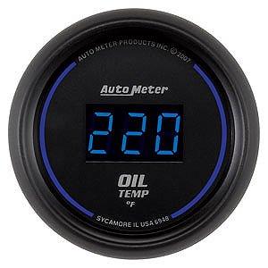Auto Meter 2-1/16″ Cobalt Digital Oil Temperature Gauge 0° to 340° F