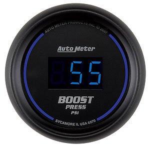 Auto Meter 2-1/16″ Cobalt Digital Boost Gauge 5-60 psi