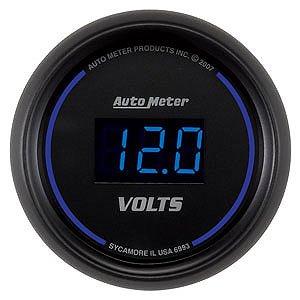 Auto Meter 2-1/16″ Cobalt Digital Voltmeter 8-18 volts