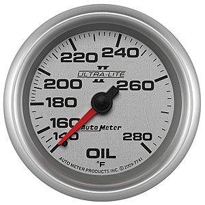 Auto Meter Ultra-Lite II Oil Temperature Gauge 140°-280° F