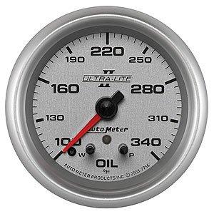 Auto Meter Ultra-Lite II Oil Temperature Gauge 100°-340° F