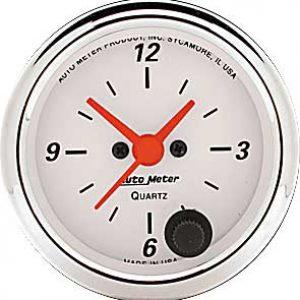 Auto Meter Arctic White Clock 2-1/16″ Electrical