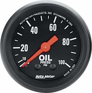 Auto Meter Z-Series Oil Pressure Gauge 2-1/16″ Mechanical