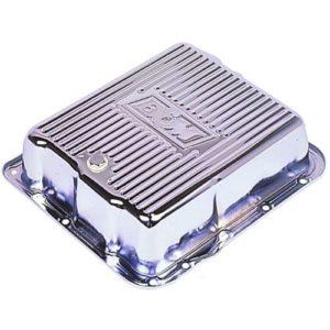 B&M Chrome-Plated Steel Deep Transmission Pan GM TH700R4, 4L60