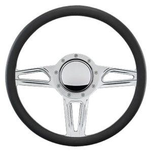 "Billet Specialties 14″ Steering Wheel "" Interceptor"" Pattern"