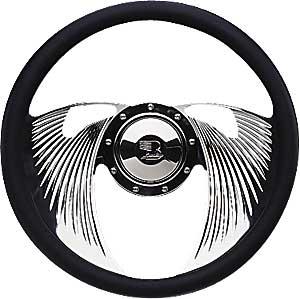 "Billet Specialties 14″ Steering Wheel ""Eagle"" Pattern"