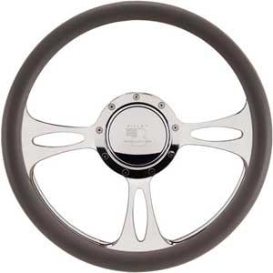 "Billet Specialties 14″ Steering Wheel ""Fast Lane"" Pattern"