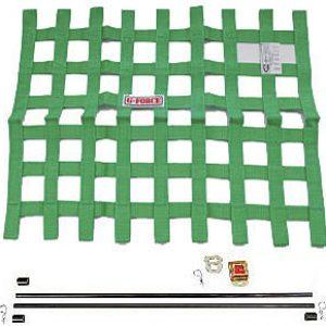G-FORCE Ribbon Window Net Kit Green Window Net
