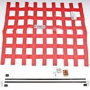 G-FORCE Ribbon Window Net Kit Red Window Net