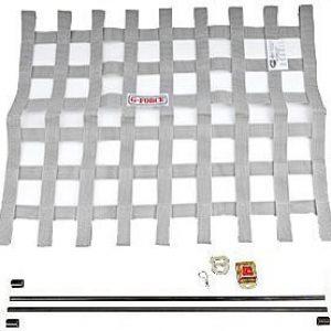 G-FORCE Ribbon Window Net Kit Silver Window Net