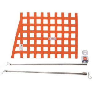G-FORCE Orange Angle Ribbon Window Net Kit Includes Ribbon Window Net