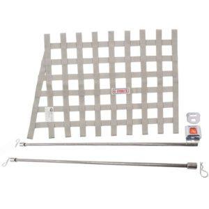 G-FORCE Silver Angle Ribbon Window Net Kit Includes: Ribbon Window Net