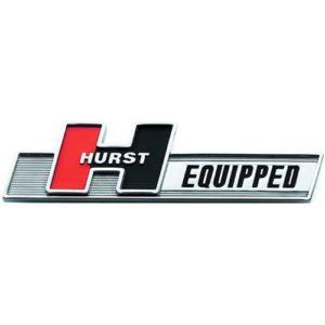 "Hurst "" Hurst-Equipped"" Plastic Emblem ABS Plastic"