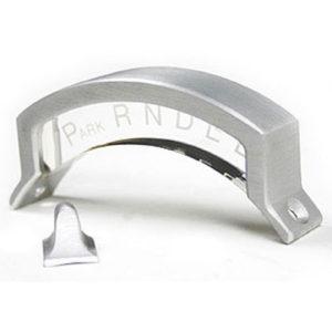 Ididit 3-Speed Shift Indicator with Pointer & Housing Acrylic with Brushed Aluminum