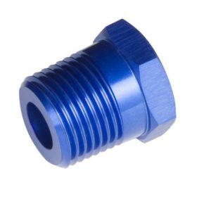 -04 (1/4″) NPT Male to -02 (1/8″) NPT Female Reducer – Blue