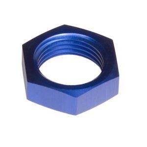 -03 AN/JIC Aluminum BulkHead Nut – Blue – 2/pkg