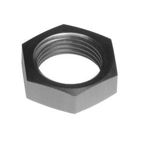 -03 AN/JIC Aluminum BulkHead Nut – Black – 2/pkg