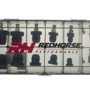 AN hose assembly pressure test kit – black
