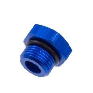 -03 AN/JIC straight thread (o-ring) port plug – blue
