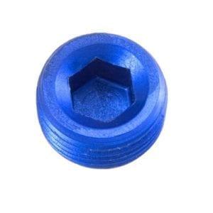 -08 (1/2″) NPT hex head pipe plug – blue