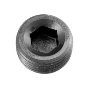 -04 (1/4″) NPT hex head pipe plug – black – 2/pkg