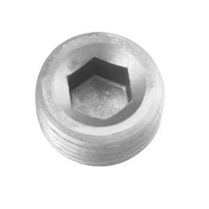 -02 (1/8″) NPT socket head pipe plug – clear – 2/pkg